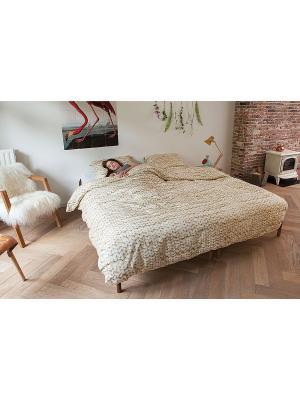 Комплект постельного белья Косичка бежевый 200х220см SNURK. Цвет: бежевый
