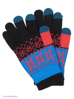 Перчатки для сенсорных экранов TERRITORY. Цвет: голубой, черный