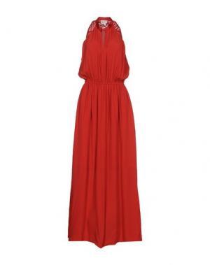 Длинное платье BELAIR. Цвет: красный
