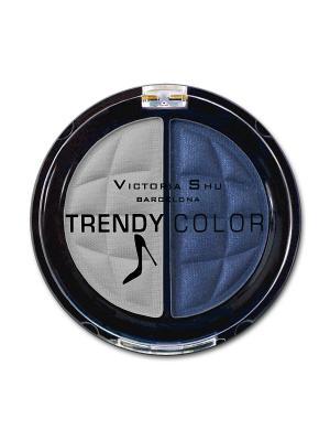 Тени для век TRENDY COLOR тон 439 Victoria Shu. Цвет: синий