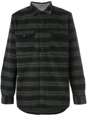 Полосатая рубашка мешковатого кроя Publish. Цвет: серый