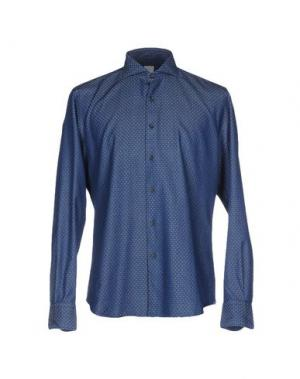 Джинсовая рубашка CELLINI. Цвет: синий
