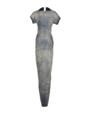Длинное платье DRKSHDW by RICK OWENS. Цвет: серый