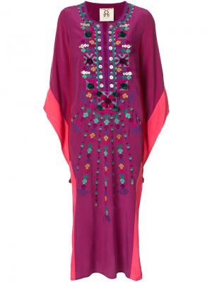 Кафтан Nala Figue. Цвет: розовый и фиолетовый