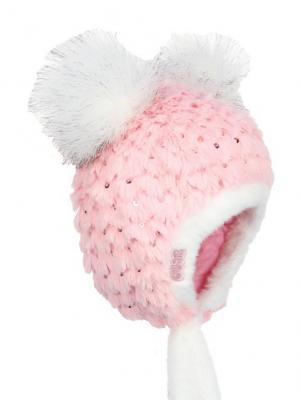 Шапка Olle. Цвет: бледно-розовый