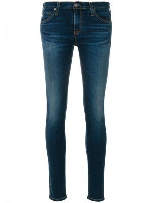 Washed skinny jeans Ag. Цвет: синий