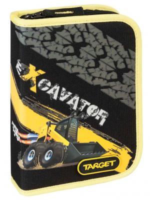 Пенал с канцтоварами Экскаватор Target. Цвет: черный
