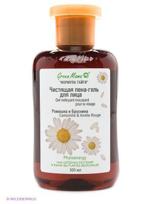 Чистящая пена-гель для лица Ромашка и брусника Green mama. Цвет: белый