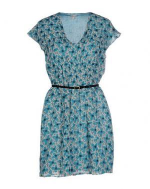 Короткое платье INTROPIA. Цвет: бирюзовый