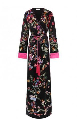 Шелковое пальто с принтом и поясом Zuhair Murad RDPF17-384-JA