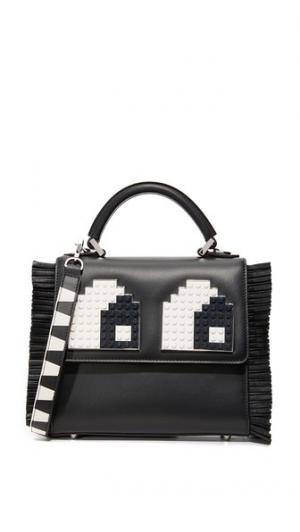 Миниатюрная сумка-портфель Alex с глазами les petits joueurs
