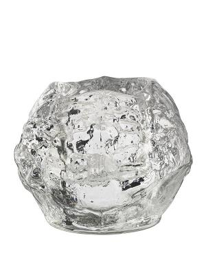 Snowball подсвечник h 90mm Kosta Boda. Цвет: прозрачный