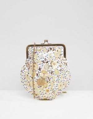 Park Lane Декорированная сумка на плечо. Цвет: кремовый