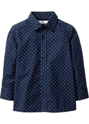 Рубашка с принтом (темно-синий/белый рисунком) bonprix. Цвет: темно-синий/белый с рисунком