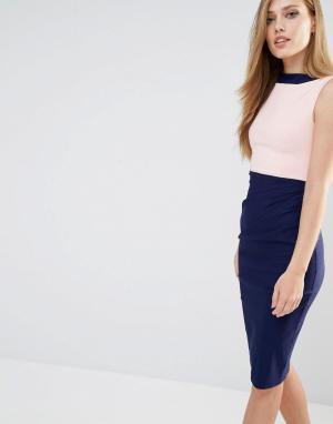 Vesper Платье-футляр в стиле колор блок. Цвет: мульти