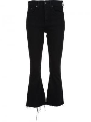 Расклешенные укороченные джинсы Rag & Bone /Jean. Цвет: чёрный