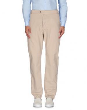 Повседневные брюки WOOD. Цвет: бежевый