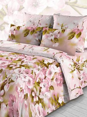 Комплект постельного белья из бязи Евро Василиса. Цвет: розовый