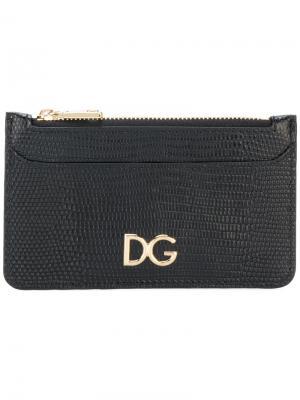 Визитница с логотипом Dolce & Gabbana. Цвет: чёрный