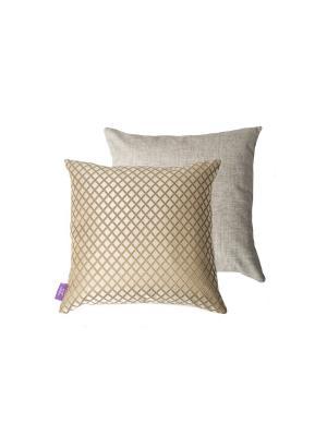 Декоративная подушка Kupu. Цвет: бежевый