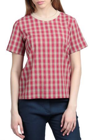 Блузка Энсо. Цвет: красный