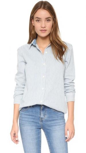 Свободная рубашка M.i.h Jeans. Цвет: белая полоска