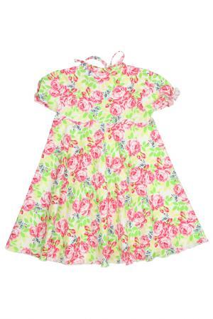 Платье Веста. Цвет: желто-розовый