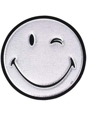 Наклейка Smiley Anya Hindmarch. Цвет: металлический