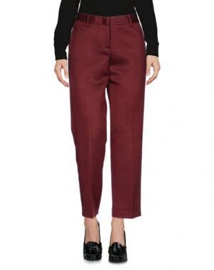 Повседневные брюки TONELLO. Цвет: красно-коричневый