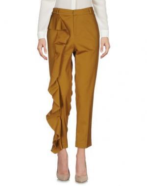 Повседневные брюки NINEMINUTES. Цвет: хаки