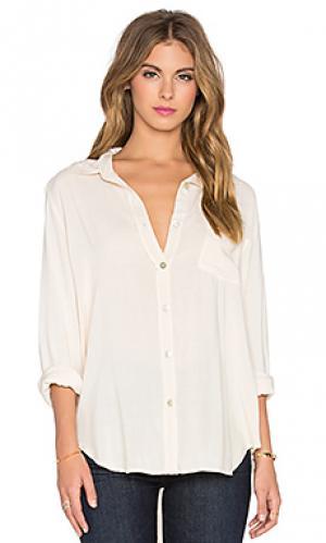 Рубашка с застёжкой на пуговицах gent Saint Grace. Цвет: кремовый