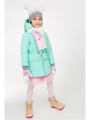 Пальто ACOOLA. Цвет: бирюзовый
