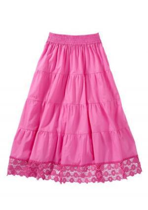 Юбка макси. Цвет: песочный, цвет белой шерсти, ярко-розовый