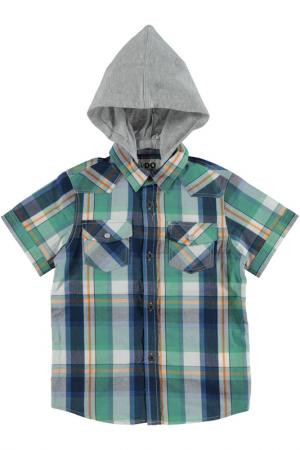 Рубашка IDO. Цвет: зеленый