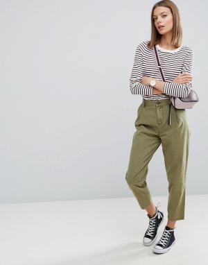 ASOS Выбеленные брюки галифе Ultimate. Цвет: зеленый