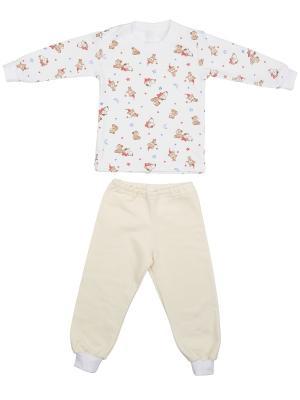 Пижама KIDONLY. Цвет: кремовый, белый, желтый