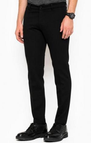 Зауженные брюки из вискозы DRYKORN. Цвет: черный