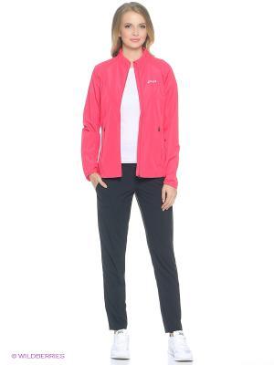 Куртка Woven Jacket ASICS. Цвет: розовый