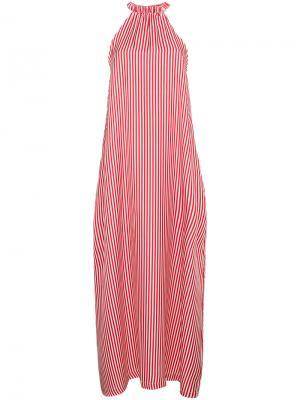 Платье в полоску Ipanema Paper London. Цвет: красный