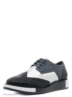 Туфли UNITED NUDE. Цвет: черный, синий, серебристый