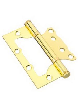 Петля накладная (БЕЗ ВРЕЗКИ) 4x3x2 pb, золото KORAL. Цвет: золотистый