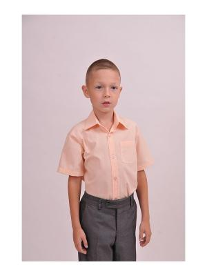 Рубашка SEMICVET. Цвет: светло-оранжевый