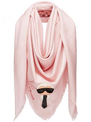 Karlito shawl Fendi. Цвет: розовый и фиолетовый