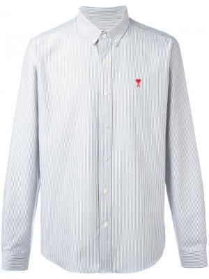 Рубашка с логотипом на пуговицах Ami Alexandre Mattiussi. Цвет: синий