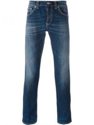 Джинсы дизайна пяти карманов Dondup. Цвет: синий