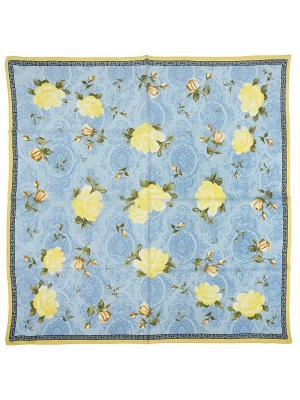 Платок Zalta. Цвет: голубой, желтый, зеленый