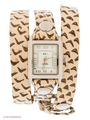 Часы La Mer Collections. Цвет: молочный, серо-коричневый, серебристый