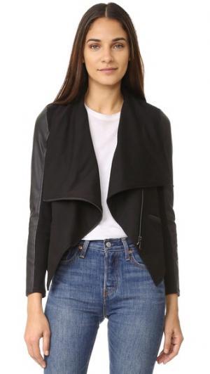 Асимметричная куртка с драпировкой David Lerner. Цвет: классический черный