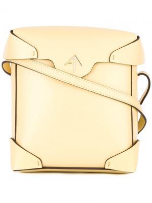 Мини сумка через плечо Pristine Manu Atelier. Цвет: жёлтый и оранжевый