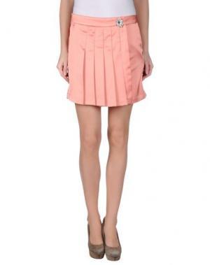 Мини-юбка LUNATIC. Цвет: лососево-розовый